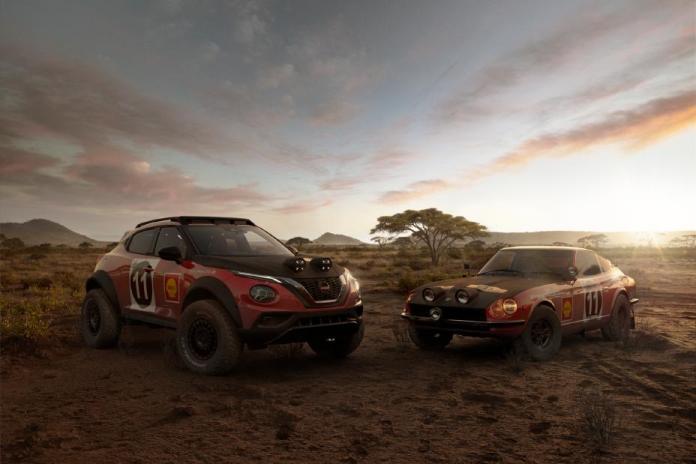 Nissan Juke Hommage 70 ans de la victoire 240 Z au safari rally