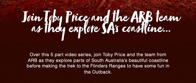 ARB L'Australie avec Toby Price L'Outback avec le champion moto