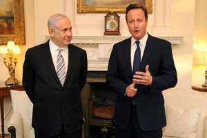 Benjamin Netanyahu in London with David Cameron