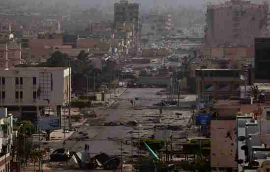 Tripoli Street, Misrata, Libya, view from a snipers' nest (AP)