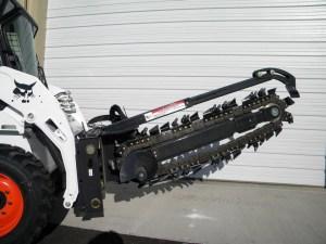 rental excavation tools Bobcat S175 Trencher 48 Attachment