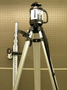 misc rental tools Laser Level with Elevation Pole