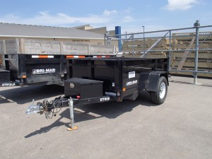 rental 2 yard dump trailer
