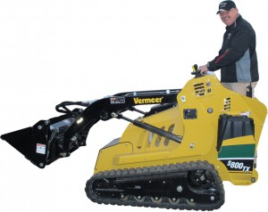 rental excavation tools Steve on the Vermeer