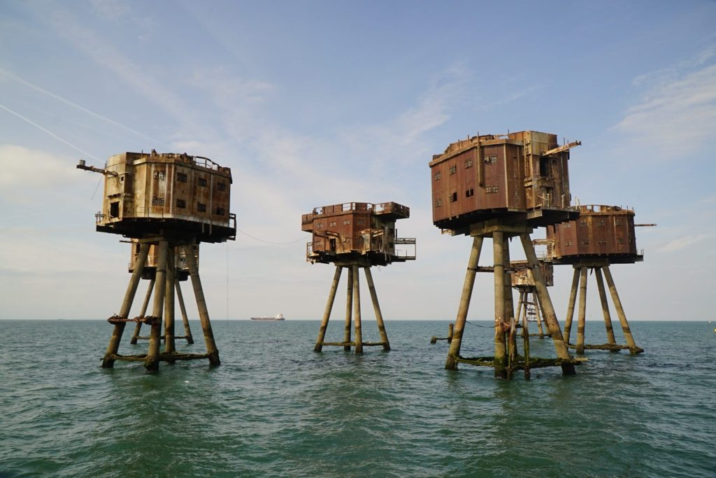 Redsands Towers in the Maunsell Forts