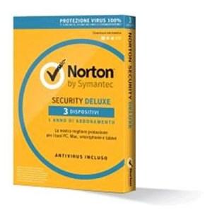 NORTON SECURITY DELUXE 3.0 - 3 DISPOSITIVI - CONFEZIONE DA 3PZ. (21355471KIT) X WINDOWS/MAC/ANDROID/IOS
