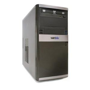 PC WINBLU ENERGY L3 4056W10 H310 INTEL I3-8100 8GBDDR4-2400 1TBSATA DVDRW VGA+DVI-D PCI-E T+M W10PRO/64 2Y ONSITE
