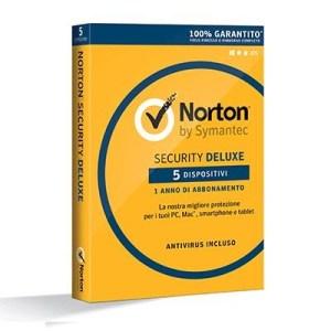 NORTON SECURITY DELUXE 3.0 - 5 DISPOSITIVI (21355420) X WINDOWS/MAC/ANDROID/IOS
