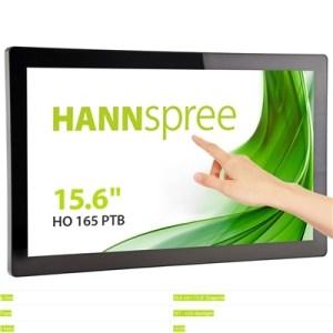 "Monitor Open Frame M-touch Hannspree Lcd Led 15.6"" Wide Ho165ptb 25ms Mm Fhd 1920x1080 700:1 Black Vga Hdmi Dp Vesa"