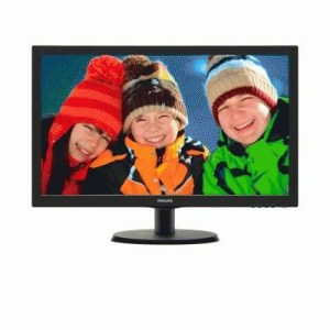 "Monitor Philips Lcd Led 21.5"" Wide 223v5lsb 5ms Fhd 1000:1 Black Vga Dvi Vesa  Fino:06/07"