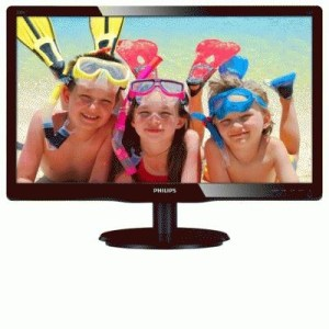 "Monitor Philips Lcd Led 19.5"" Wide 200v4lab2/00 5ms Mm Fhd 600:1 Glossy Black Vga Dvi Vesa  Fino:04/08"