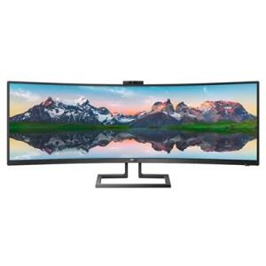"Monitor Philips Lcd Curved Led 43.4"" 32:10 439p9h/00 4ms Mm Softblue Uhd 3000:1 Black Hdmi 2xdp 6xusb Webcam Vesa Fino:06/07"