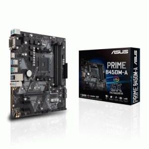 Mb Asus Prime B450m-a Lga Am4 B450 4xddr4dc-3200o.c. 1xpcie3.0x16 Vga 6xsata3raid M.2 Gblan Usb3.1 Matx 90mb0yr0-m0eay0