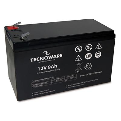 Batteria X Ups/antifurti/etc. 12v  9.0ah Tecnoware - Eacpe12v09atwb - 151x65x94+5 (lxpxh) Ermetica Al Piombo
