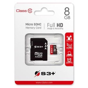 Micro Secure Digital  8gb S3sdc10/8gb Class10 + Adattatore S3+