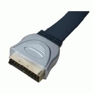 Cavo Scart 2mt M/m Nilox 07nxsk02ma202 21pin To 21pin Metal Plug - Gold Plating - Blu