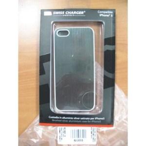 Custodia X Apple Iphone5 Scp60038 Swiss Charger In Alluminio Silver Satinato
