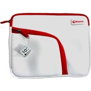 """Borsa Nb E Tablet 10"""" Atlantis P004-k837-a9-10  Mod. Philo-bianco+zip Rossa-tasca Laterale Per Accessori  Ean 8026974016160"""