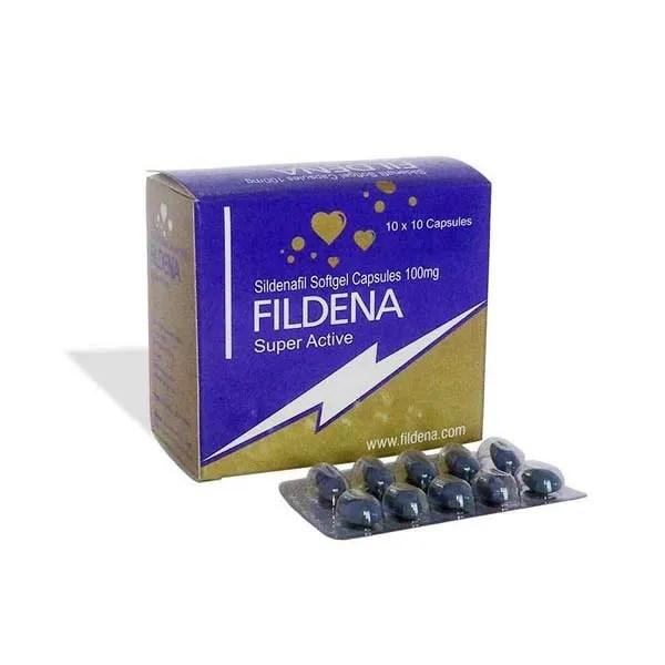 Fildena Super Active (Sildenafil Citrate) -Soft gel Capsules