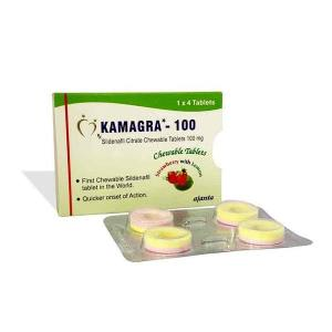 Kamagra Polo Chewable 100mg (Sildenafil Citrate)