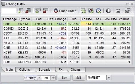 Generic Trader Professional Trading Matrix