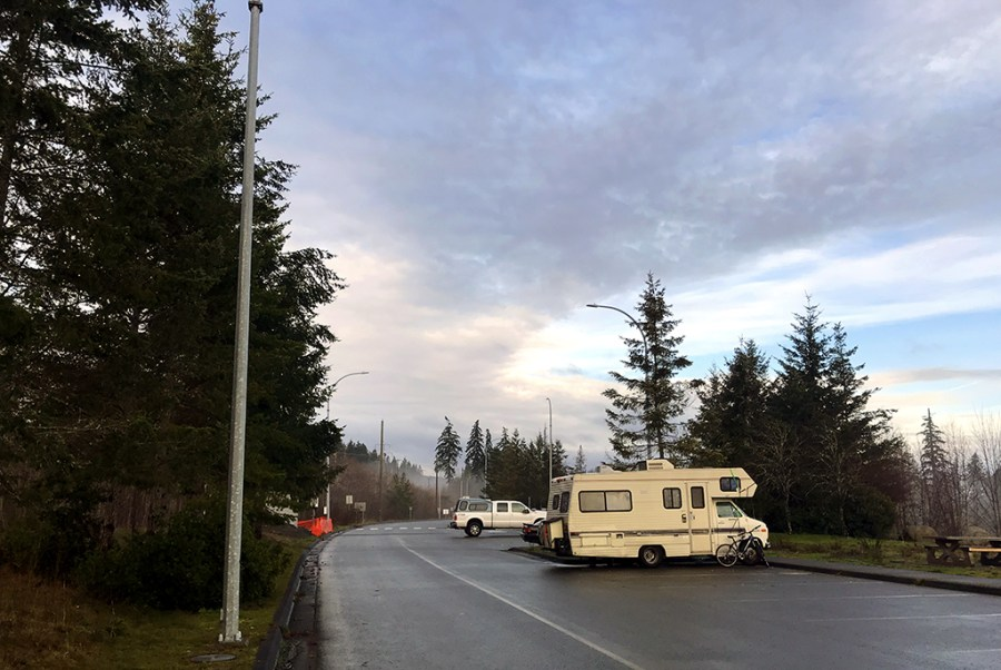 Generic-Van-Life-Camping-Spot-Buckley-Bay-Rest-Area-British-Columbia-Parking-Lot