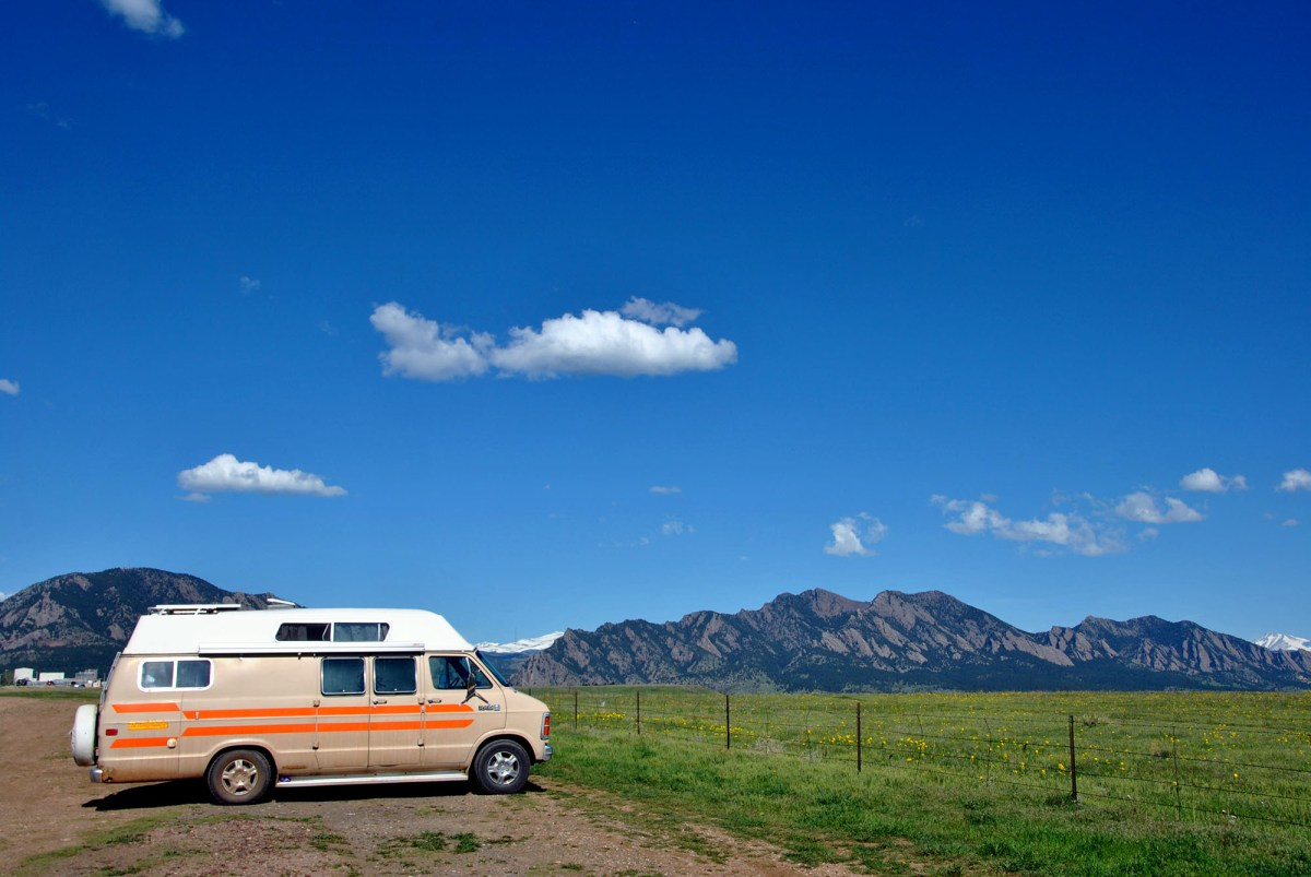 Generic Van Life - Getting Rocky Mountain Fresh in Colorful Colorado - Boulder Flatirons