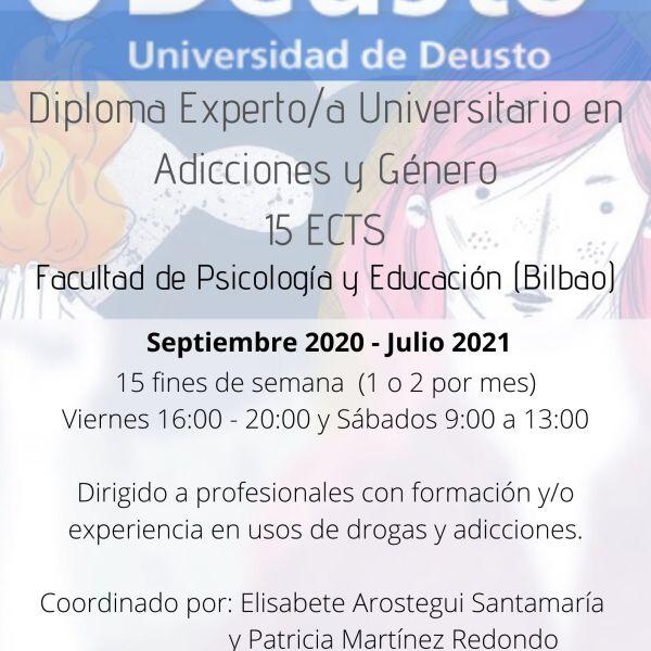 Adicciones y Género Universidad Deusto