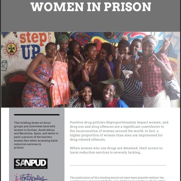 harm reduction women prison reducción de daños prisión mujeres