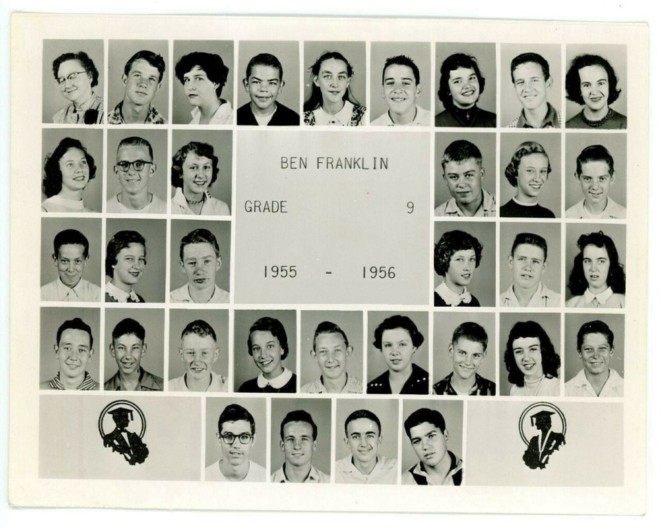 Ben Franklin Jr High 9th Grade 1955-1956