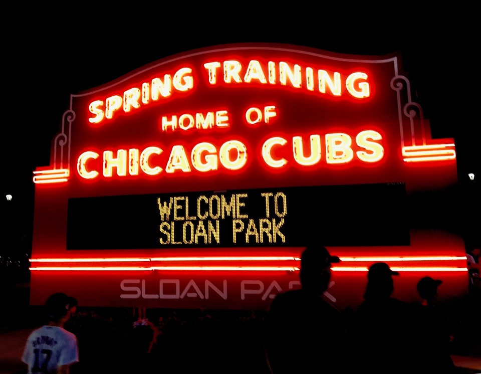 Sloan Park. First day of spring. 2019.