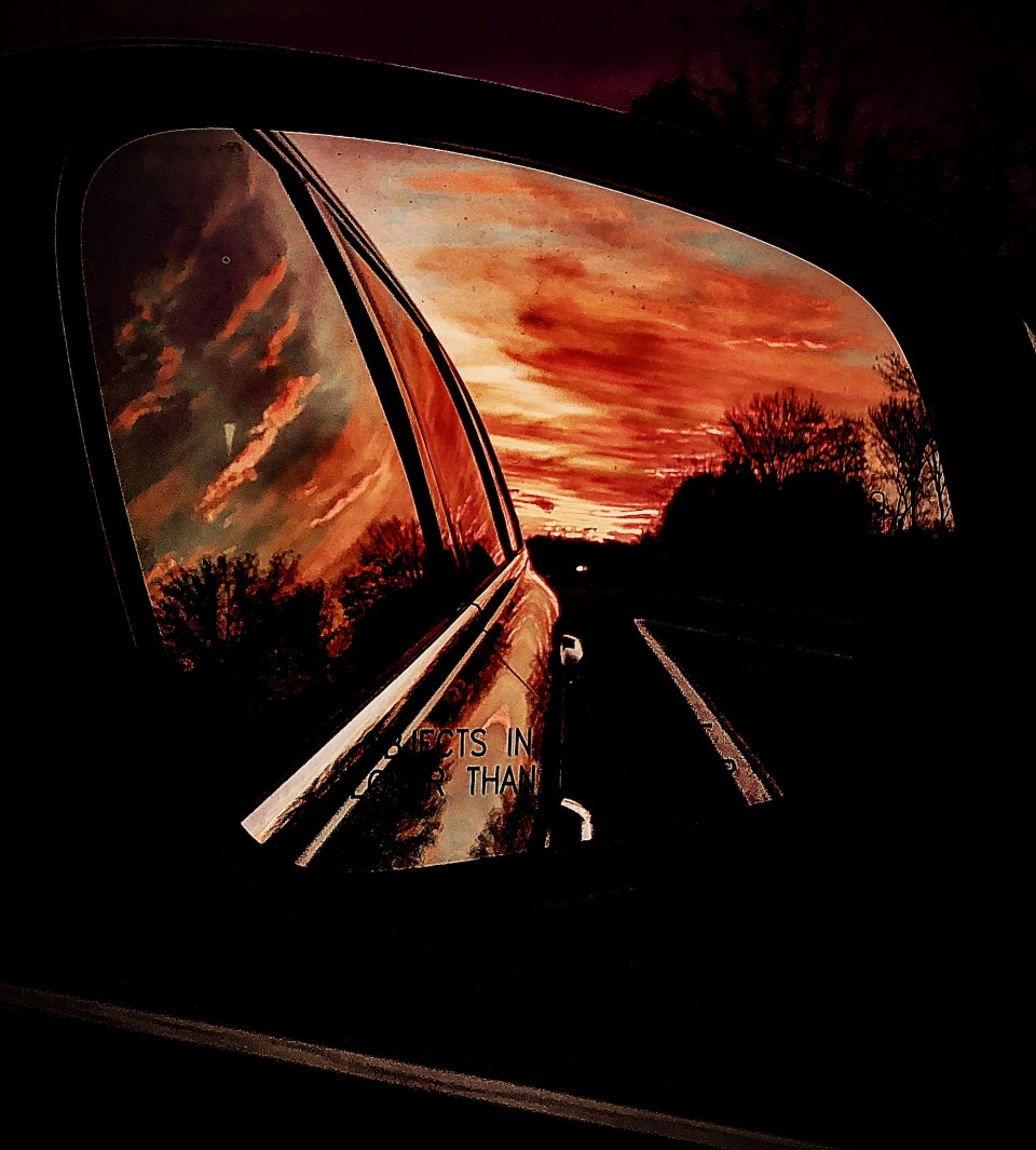 Rearview sunset. 4 November 19.