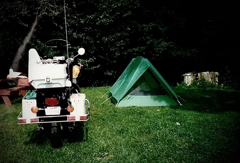 Honeymoon suite, Vermont campground, 1986.