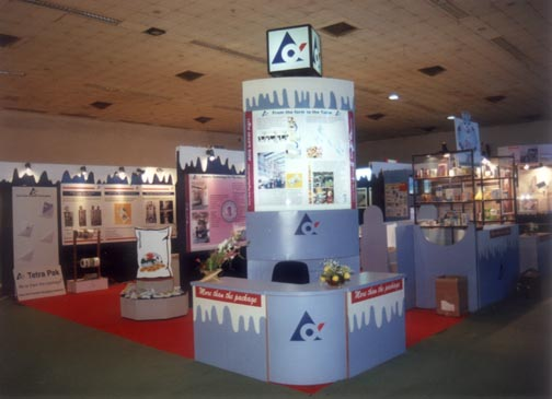 Exhibition booth designed and fabricated for Tetra Pak