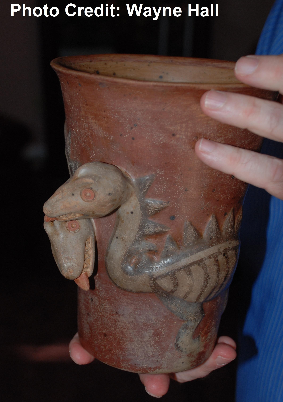 Swift Dueling Dino Vase