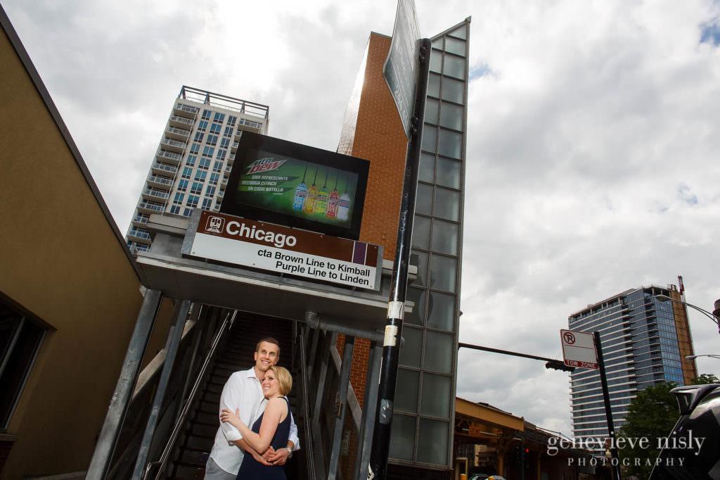 Chicago, Copyright Genevieve Nisly Photography, Engagements, Illinois, Lincoln Park, Michigan Avenue Bridge, Summer
