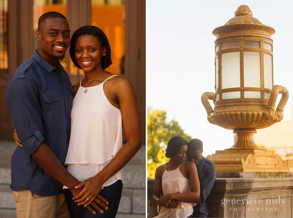 Ohio, Summer, Copyright Genevieve Nisly Photography, Engagements, Akron, Downtown Akron