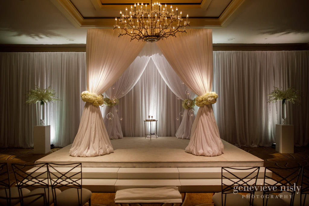 The huppah for Dana and Max's wedding at the Cleveland Ritz Carlton.