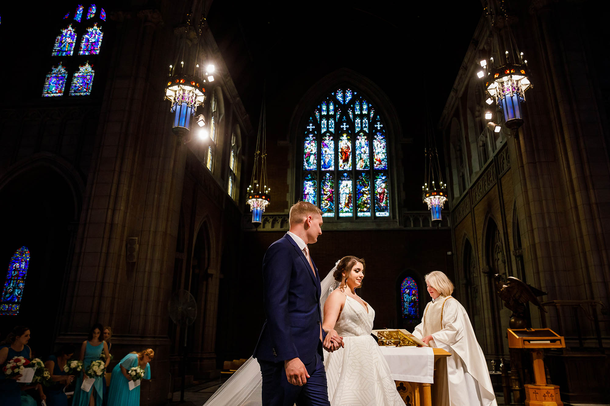 Trinity Cathedral, Wedding, Ceremony, Cleveland