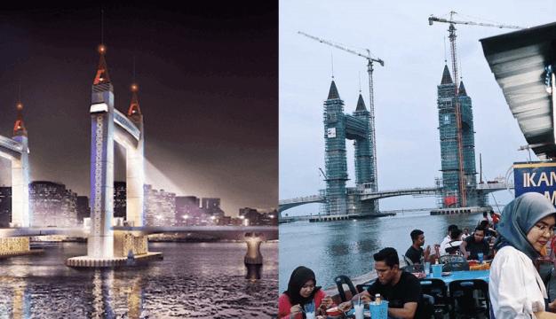 Ikon Terbaru Terengganu Jambatan Angkat Ala-Ala Tower Bridge London 6