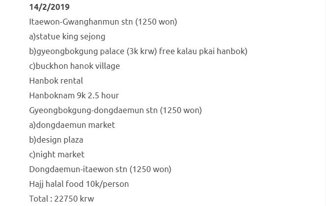 Bercuti Ke Seoul & Jeju Selama 8 Hari Dengan Kos RM1500 Termasuk Flight. Berbaloi Sangat! 11