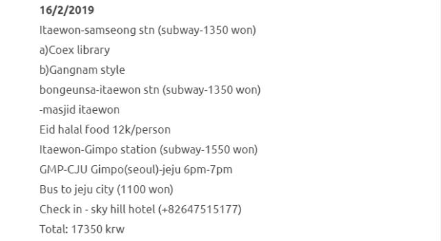 Trip Ke Seoul Dan Jeju Selama 8 Hari Dengan Kos RM1500 Termasuk Flight. Berbaloi Sangat! 12