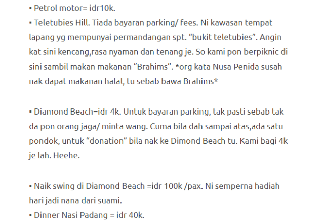 Hanya Berbelanja RM1537 Di Bali & Nusa Penida Untuk 3 Orang. Berbaloi Baloi! 13