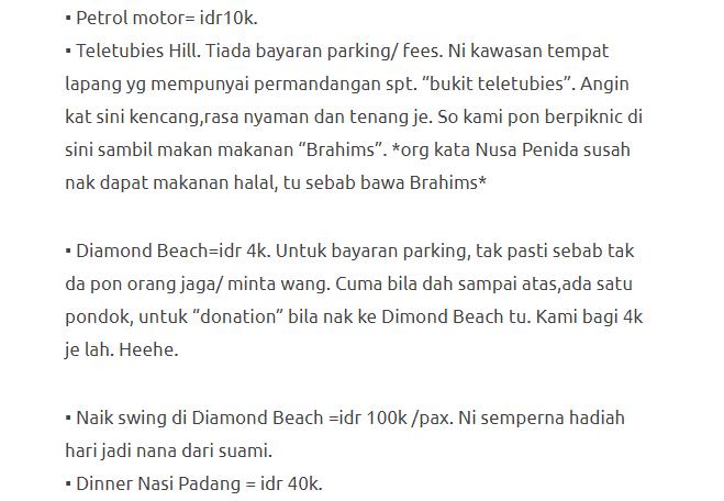Hanya Berbelanja RM1537 Di Bali & Nusa Penida Untuk 3 Orang. Berbaloi Baloi! 14