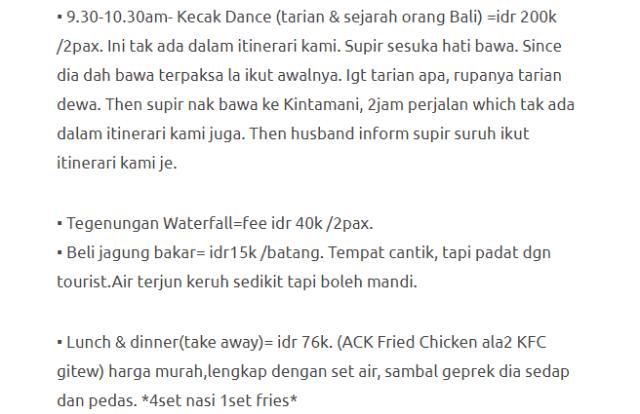 Hanya Berbelanja RM1537 Di Bali & Nusa Penida Untuk 3 Orang. Berbaloi Baloi! 17