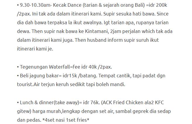 Hanya Berbelanja RM1537 Di Bali & Nusa Penida Untuk 3 Orang. Berbaloi Baloi! 18