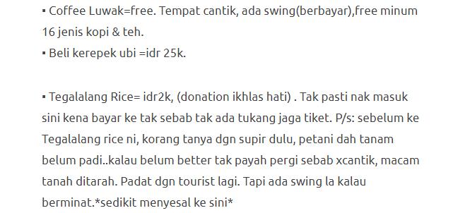Hanya Berbelanja RM1537 Di Bali & Nusa Penida Untuk 3 Orang. Berbaloi Baloi! 19