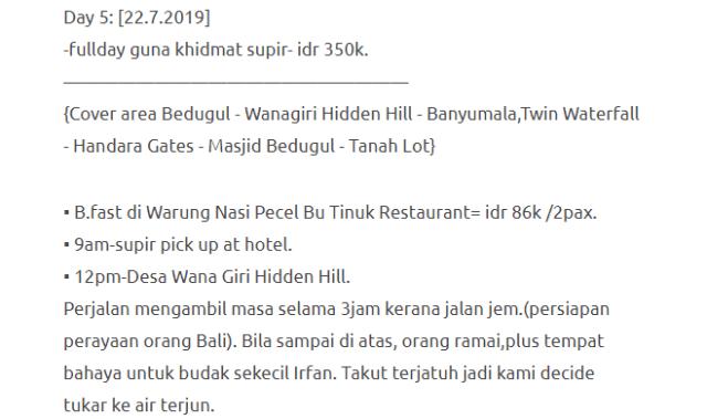 Hanya Berbelanja RM1537 Di Bali & Nusa Penida Untuk 3 Orang. Berbaloi Baloi! 22