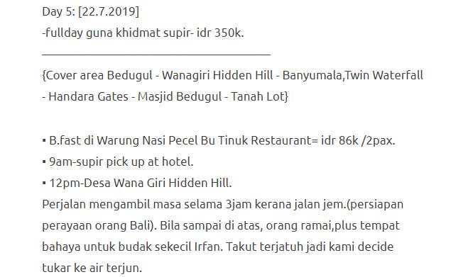Hanya Berbelanja RM1537 Di Bali & Nusa Penida Untuk 3 Orang. Berbaloi Baloi! 23