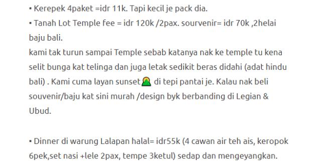 Hanya Berbelanja RM1537 Di Bali & Nusa Penida Untuk 3 Orang. Berbaloi Baloi! 24